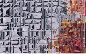 abstracto draadglas blank
